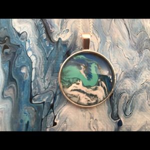 Acrylic Paint Skin Necklace